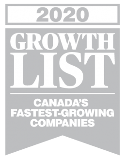 2020 growth list of Canada's fastest-growing companies logo.