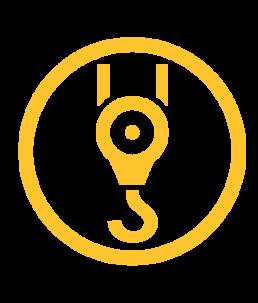 Crane winch icon.