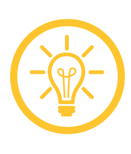 Custom Solutions icon, lightbulb idea.