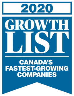 2020 growth list logo for Macleans magazine and Canadian Business magazine.